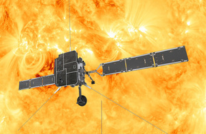 Sun explorer spacecraft leaves for launch site