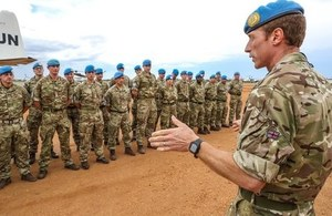 UK troops deploy to South Sudan to support peacekeeping mission