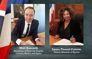 UK and France sign new agreements to tackle corruption and match fixing in sport