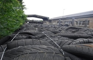 Press release: Directors and company sentenced for flouting tyre storage laws