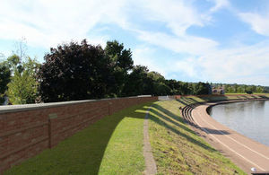 Exeter flood defence scheme construction at Quay takes summer break