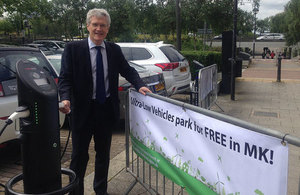 Free electric vehicle parking space for thousands in Milton Keynes
