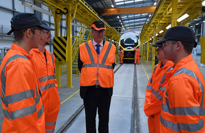 New rail academy to train 500 apprentices opened by Transport Secretary