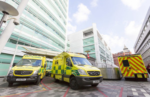 Multi million pound investment in new ambulances for the NHS