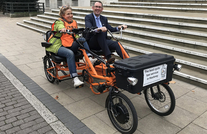 Transport Minister visits cycle taxi scheme to highlight Accessibility Action Plan consultation