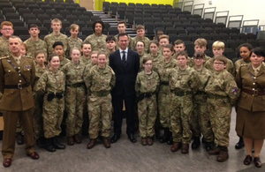 Thousands of students will benefit from new cadet units backed by £50 million Government plan