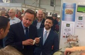 Welsh Secretary Stephen Crabb visits Royal Welsh Show
