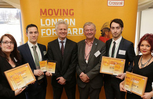 Lord Deighton congratulates the engineers of tomorrow at Crossrail Awards