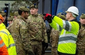 Military deploys to provide flood relief during Storm Dennis