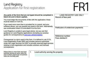 Change to documents required for a first registration