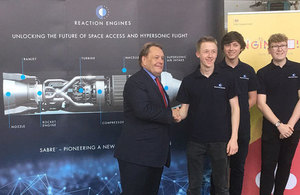 Transport Minister visits Reaction Engines to see space sector technology
