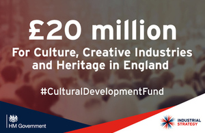 £20 million government boost for culture and creative industries in England