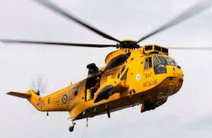 Sea king helicopters: asbestos