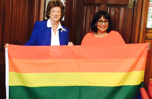 DFID flies the rainbow flag