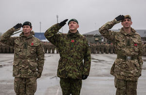 British soldiers arrive in Estonia