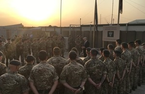 Defence Secretary recognises UK efforts in the fight against Daesh with service medal