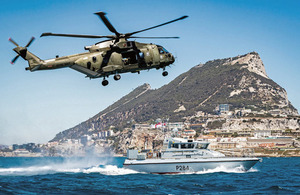 Armed Forces Minister reinforces UK support to Gibraltar