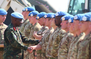 UK TROOPS AWARDED UN MEDALS FOR SOUTH SUDAN PEACEKEEPING MISSION
