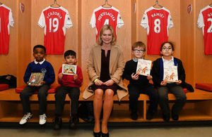 Education Secretary literacy visit to Arsenal football club