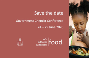 Save the date   Government Chemist Conference 2020