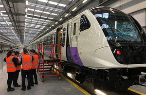 Crossrail minister takes ride on the Elizabeth line train as testing is set to move to London