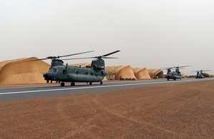 RAF helicopters ready to support French in Mali