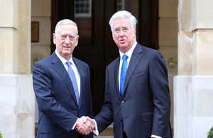 Defence Secretary welcomes US Secretary of Defense Jim Mattis to the UK for the first time