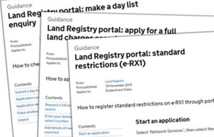 Land Registry Restrictions >> New Guides To Help Customers Use The Land Registry Portal Govwire News