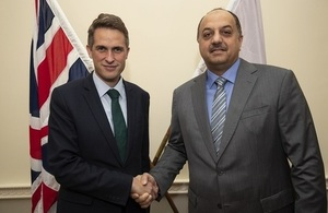 Defence Secretary welcomes Qatari counterpart to UK