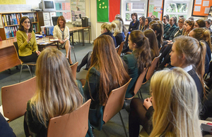 Villiers meets 6th Formers to encourage them to get involved in politics