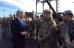 Defence Secretary applauds service of globally deployed Scots