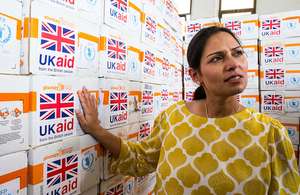Priti Patel: taxpayers' money is making the difference between life and death in East Africa but Britain cannot act alone