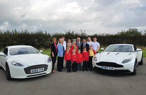 Alun Cairns joins Aston Martin to promote careers in STEM to St Athan pupils