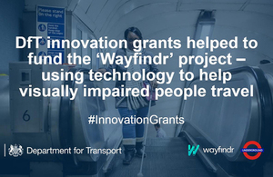 Government invests over £2.5 million in new technologies and ideas to futureproof UK's transport sector