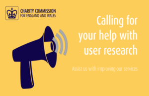Help the Charity Commission develop digital services
