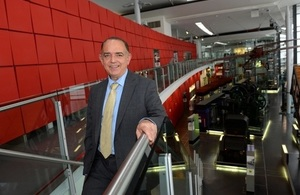 Lord Bourne hails Welsh museums during visit to the Waterfront