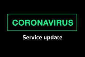 Coronavirus (COVID 19): impact on our services